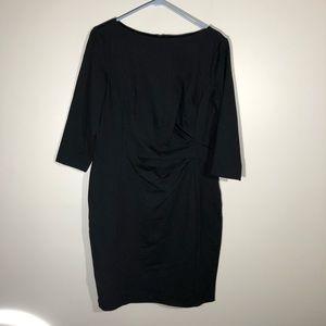 Lauren Ralph Lauren Black Sheath Dress Size 16